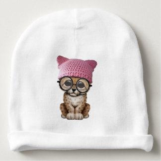 Cute Cheetah Cub Wearing Pussy Hat Baby Beanie