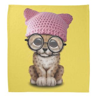 Cute Cheetah Cub Wearing Pussy Hat Bandana