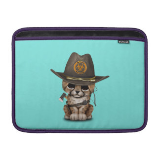 Cute Cheetah Cub Zombie Hunter MacBook Sleeve