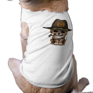 Cute Cheetah Cub Zombie Hunter Shirt