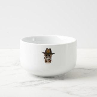 Cute Cheetah Cub Zombie Hunter Soup Mug