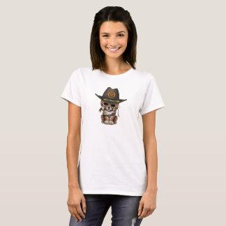 Cute Cheetah Cub Zombie Hunter T-Shirt