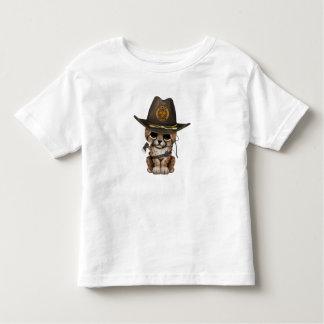 Cute Cheetah Cub Zombie Hunter Toddler T-Shirt