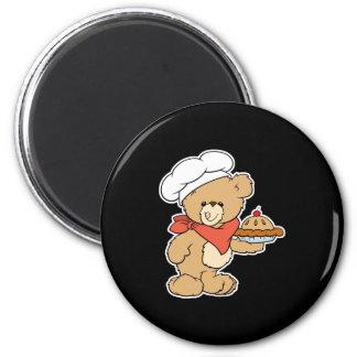 Cute Chef Baker Bear Refrigerator Magnet