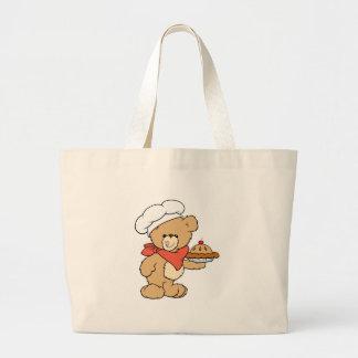 Cute Chef Baker Bear Jumbo Tote Bag