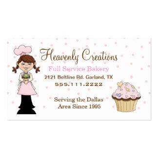 Cute Chef Bakery Cupcake Business Card