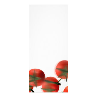 Cute chef box character catching tomatoes rack card