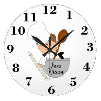Cute Chef Large Clock