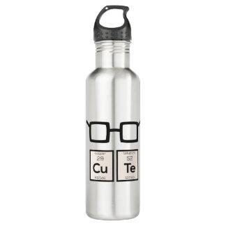 Cute chemical Element Nerd Glasses Zwp34 710 Ml Water Bottle