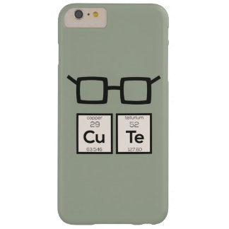 Cute chemical Element Nerd Glasses Zwp34 Barely There iPhone 6 Plus Case