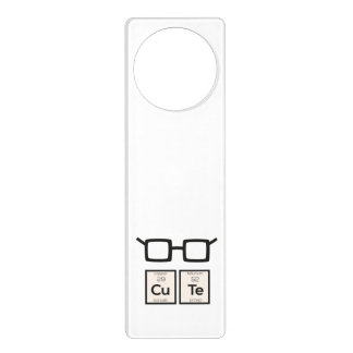 Cute chemical Element Nerd Glasses Zwp34 Door Hanger