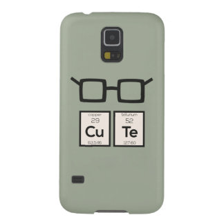 Cute chemical Element Nerd Glasses Zwp34 Galaxy S5 Case