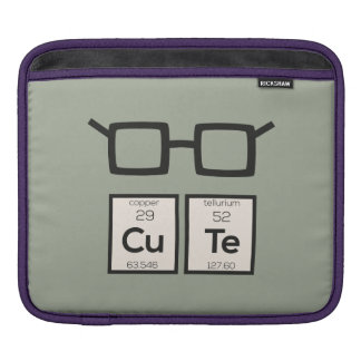 Cute chemical Element Nerd Glasses Zwp34 iPad Sleeve