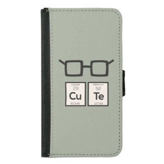 Cute chemical Element Nerd Glasses Zwp34 Samsung Galaxy S5 Wallet Case