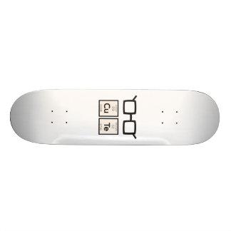 Cute chemical Element Nerd Glasses Zwp34 Skateboard
