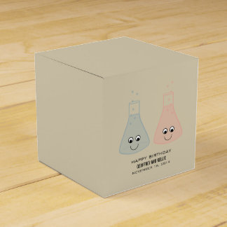 Cute Chemistry Birthday Favour Boxes