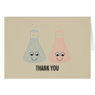 Cute Chemistry Thank You Card