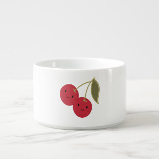 Cute Cherries Small Soup Bowl With Handle