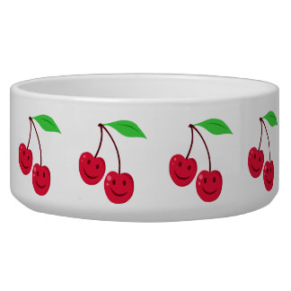 Cute Cherries Dog Water Bowl