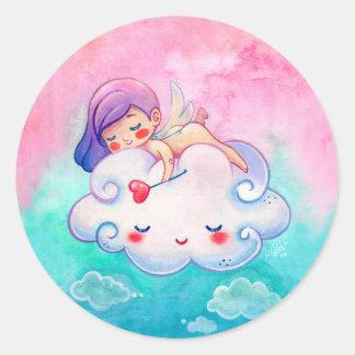 Cute Cherub & Cloud Sticker