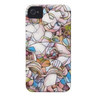 Cute Cherub in Garden Stained Glass iPhone 4 Case-Mate Case