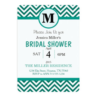 Cute Chevron Bridal shower invitation