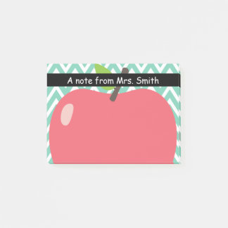 Cute Chevron Stripes Big Apple Teacher Post-it Notes