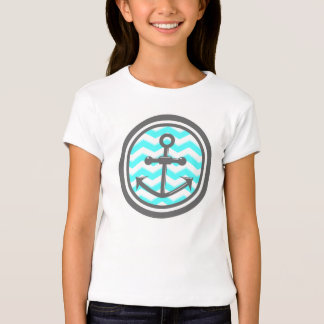 Cute Chevron Zigzag Pattern Anchor Smile T-shirts