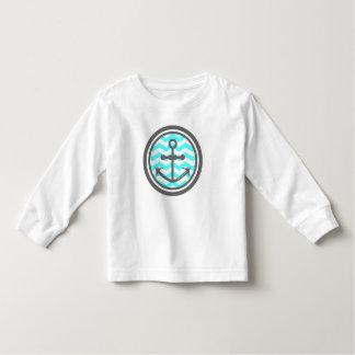 Cute Chevron Zigzag Pattern Anchor Smile Tshirt
