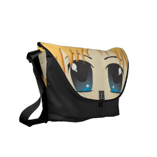 Cute Chibi Blue Eyes Courier Bag