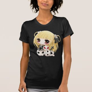 Cute chibi girl and kawaii skulls T-Shirt