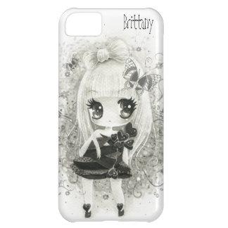 Cute chibi girl in black and white - Iphone case iPhone 5C Case