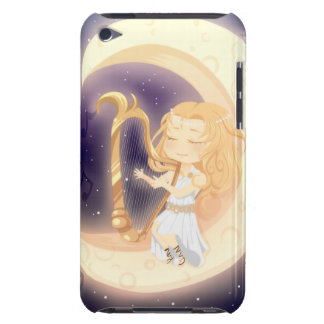 Cute Chibi girl playing the harp on the moon iPod Case-Mate Cases