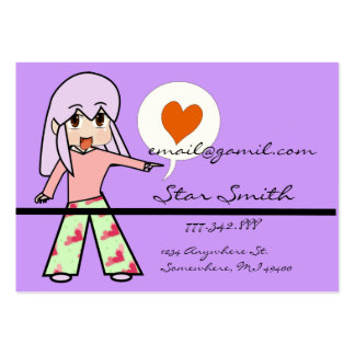 Cute Chibi Heart Business Cards