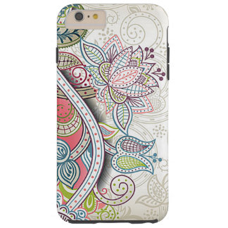 Cute Chic Classic Ornate Vintage Floral Pattern Tough iPhone 6 Plus Case
