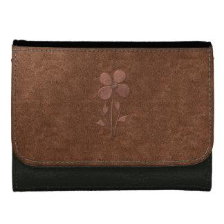 Cute Chic Copper Textured Flower  Wallet