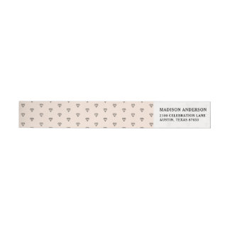 Cute Chic Diamond Pink Pattern Wrap Around Label