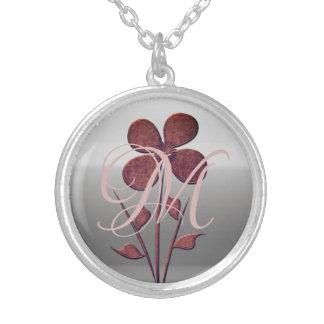 Cute Chic Floral Monogram Necklace