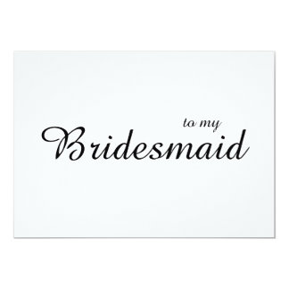 Cute Chic To My Bridesmaid Wedding Thank You Card
