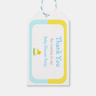 Cute Chick Blue Boy Thank You Gift Tag