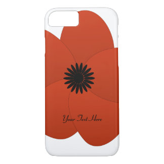 Cute Chick Bright Red Flower iPhone 7 Case