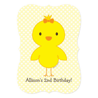 Cute chick card