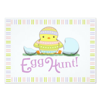 Cute Chick Easter Egg Hunt Brunch Invitation
