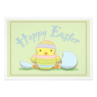 Cute Chick Happy Easter Egg Hunt Brunch Invitation