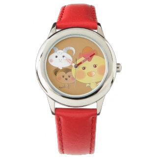Cute! Chick & Monkey & Lamb Wristwatch