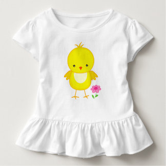Cute chick with flower toddler T-Shirt