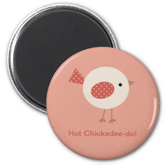 Cute Chickadoodle Accessories 6 Cm Round Magnet