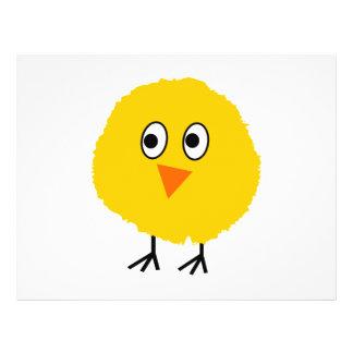 Cute chicken cartoon 21.5 cm x 28 cm flyer