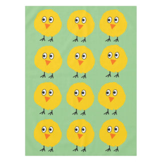 Cute chicken cartoon tablecloth