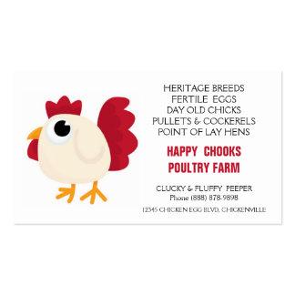 Cute Chicken Doodle Egg Farm Business Card Template